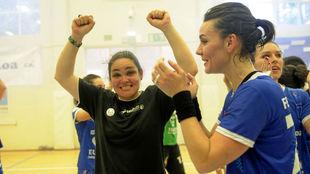 Montse Puche, tras un partido con el Bera Bera