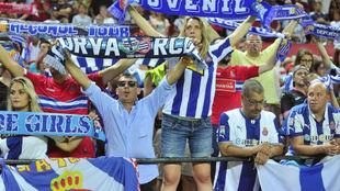 Aficionados del Espanyol durante un encuentro