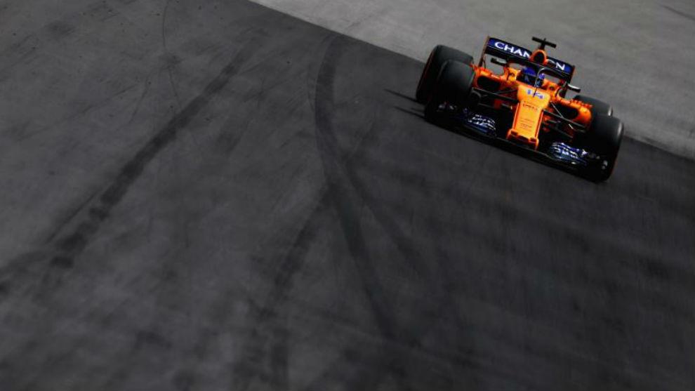 Fernando Alonso in his McLaren