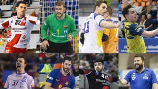 Los galardonados en el 'Equipo Ideal' de la Liga Asobal...