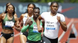 Caster Semenya, en carrera en la prueba de Eugene
