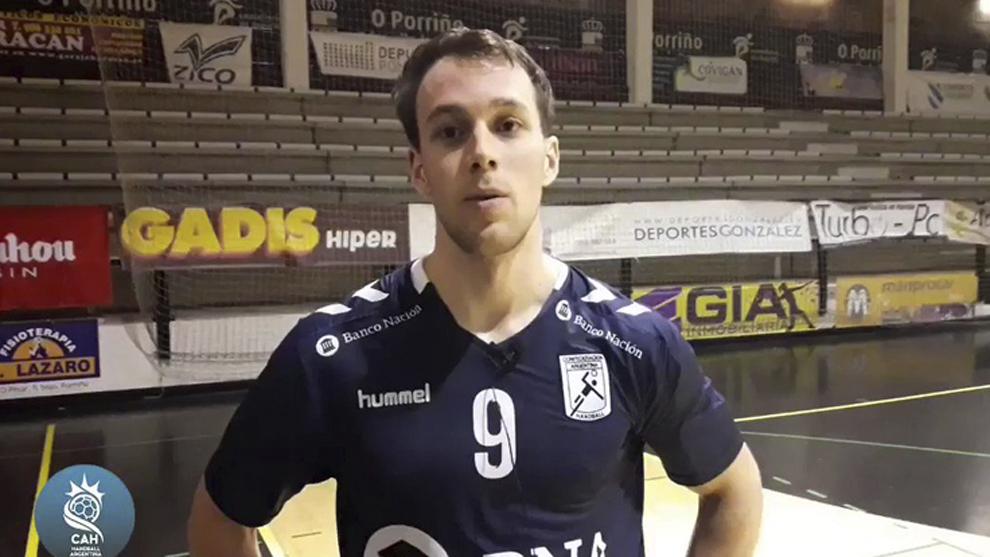 Santiago Baronetto, con la camiseta de la selección argentina