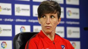 Sonia Bermúdez, durante una rueda de prensa en la Ciudad Deportiva...