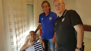 Ricardo Arias, exfutbolista del Valencia CF, y Federico Sagreras,...