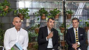 Javier Guillén interviene en el acto de este martes con Ecovidrio en...