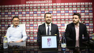 Diego Martínez, durante su presentación como nuevo entrenador...