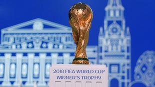 Trofeo del Mundial durante un evento.