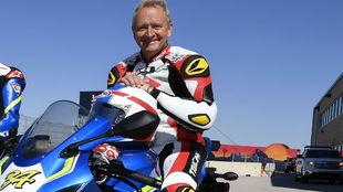 Kevin Schwantz, con una Suzuki de calle.