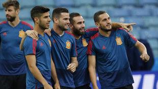 Marco Asensio, Nacho, Carvajal and Koke