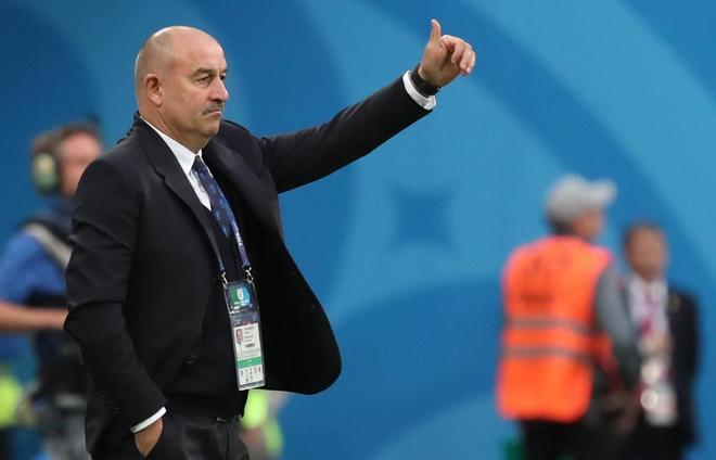 Stanislav Cherchesov, durante el partido