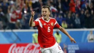 Cheryshev celebra su gol.