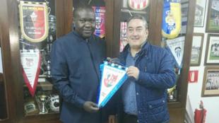 Patrice Edourd Ngaissona, presidente de la Federación de RCA, y Fidel...