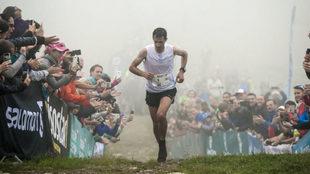Kilian Jornet, en la pasada edición del maratón del Mont Blanc.