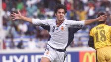 Pablo Couñago celebra un gol con la selección en el Mundial de...