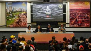 La presentación del Dakar 2019, en Lima hace unos días.