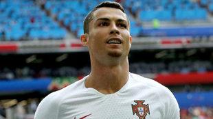 Cristiano Ronaldo, en el partido contra Marruecos.