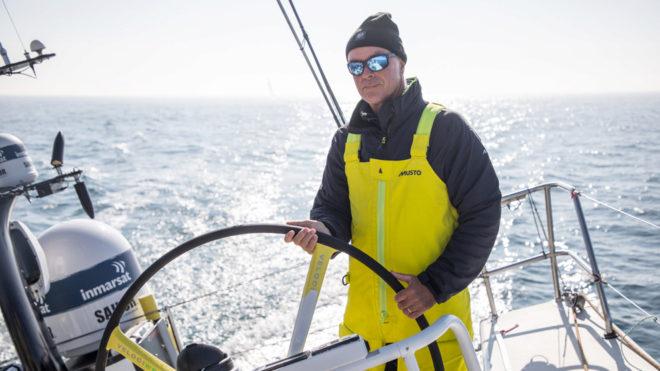 Bouwe Bekking, durante la etapa 9 de la Volvo Ocean Race.