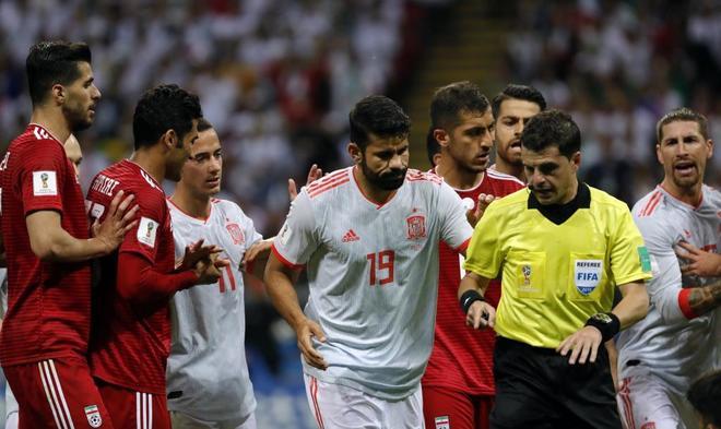 Partido del Mundial de Rusia entre España e Iran en Kazan
