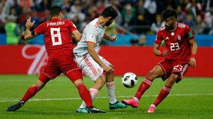 Diego Costa marcó con la rodilla el gol de la victoria.