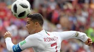 Cristiano Ronaldo con Portugal durante el Mundial