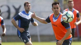 Jurado durante un entrenamiento del Espanyol.