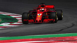 Sebastian Vettel, durante el GP de España