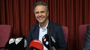 Sevilla's Director of Football, Joaquin Caparros