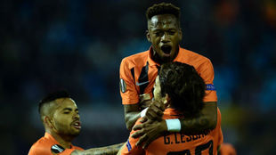Fred, celebrando un gol con el Shakhtar esta temporada