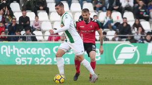 Sergi Guardiola, durante un partido con el Córdoba esta temporada