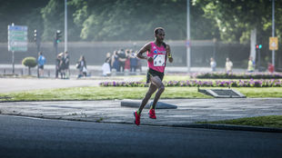 Gizaw Bekele, en una carrera reciente en Madrid.