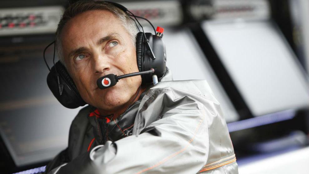 Martin Whitmarsh, en el muro de McLaren.