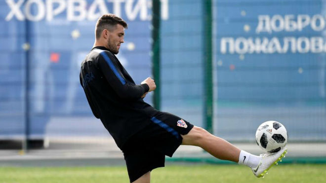 Kovacic, entrenando con Croacia