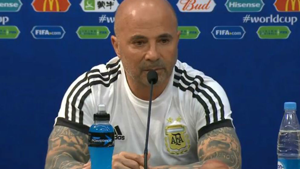 Jorge Sampaoli admits pain at defeat