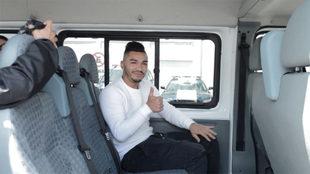 Lorenzo Reyes a su llegada a Guadalajara