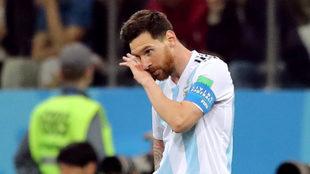 Messi no pudo ser factor ante Croacia.