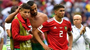 Achraf, tras la derrota ante Portugal.