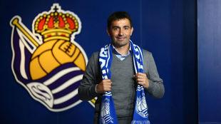 Asier Garitano, el día de su presentación con la Real Sociedad.