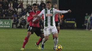 Sergi Guardiola, durante un partido con el Córdoba esta temporada.
