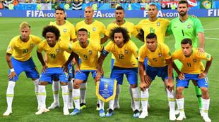 Alineación inicial de Brasil que se enfrentó a Suiza