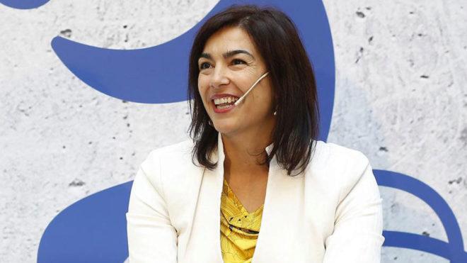 María José Rienda, durante un acto previo a los Juegos de...