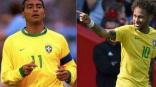 En directo, Neymar supera a Romario