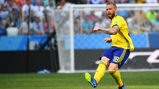Pontus Jansson, durante un encuentro del Mundial de Rusia 2018