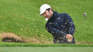 Jorge Campillo, durante el pasado PGA Championship en Wentworth.