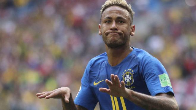 Neymar celebra su gol contra Costa Rica.