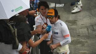 Alonso, tras la Q1.
