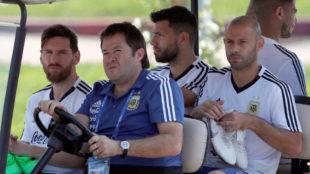 ¿Pelea en la concentración de Argentina a costa de Caballero?