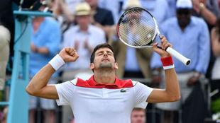 Novak Djokovic, tras ganar a Chardy.