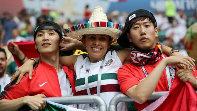 Resultado de imagen para aficionados mexico corea del sur rostov rusia 2018
