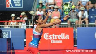Majo Sánchez Alayeto, durante las semifinales del Valladolid Open