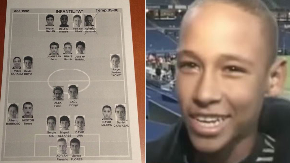 Neymar and a Real Madrid youth team